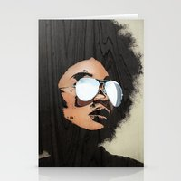 afro Stationery Cards featuring Venus Afro by Vin Zzep
