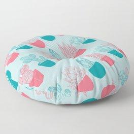 Colourful succulent pattern  Floor Pillow
