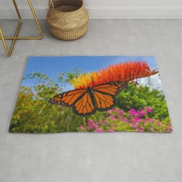 Monarch Butterfly on a Firebush Rug
