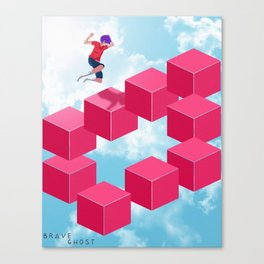 Cube Hopper Canvas Print