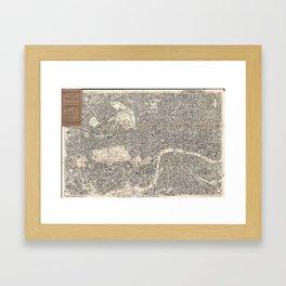 Vintage Map of London England (1899) 2 Framed Art Print