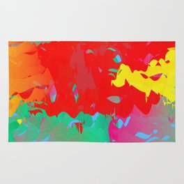 Abstract Paint Gradient Rug