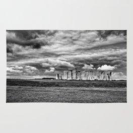 Angry skies at Stonehenge Rug