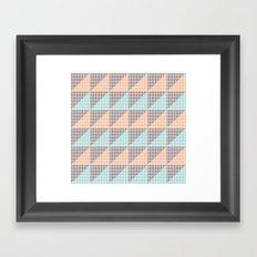 Triangles. Framed Art Print