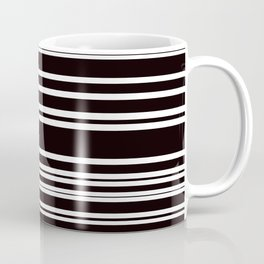 Black and White Multi Horizontal Stripes Coffee Mug