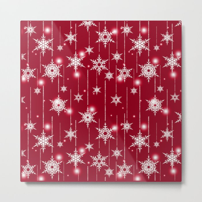 Bright Christmas background. Metal Print