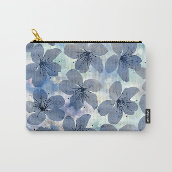 Floral Pattern C Carry-All Pouch