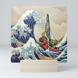 Great Wave -  Free Shipping - darkgamer - gamer clothing and accessories Mini Art Print