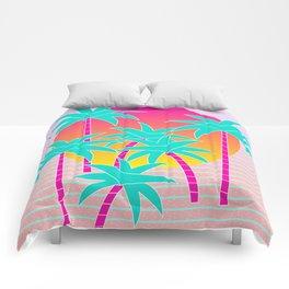 Hello Miami Sunset Comforters