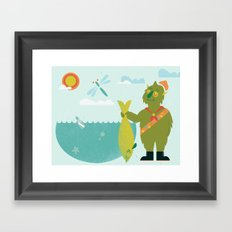 Harold Goes Fishing Framed Art Print