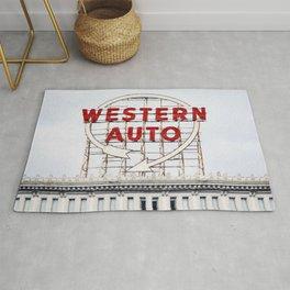 Western Auto Vintage Neon Sign Rug