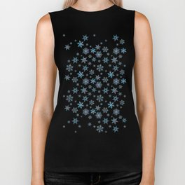 """Embroidered"" Snowflakes Biker Tank"