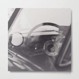 Super car details, british triumph spitfire, black & white, high quality fine art print, classic car Metal Print