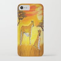 tigers iPhone & iPod Cases featuring Tigers Sun by ArtSchool