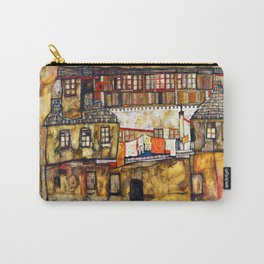 Egon Schiele House Wall on the River Carry-All Pouch