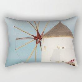 Oia Windmill Rectangular Pillow