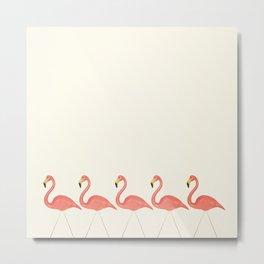Flamingo Lineup Metal Print