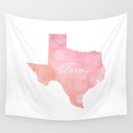 Texas Pink and Coral Bokeh Wall Tapestry