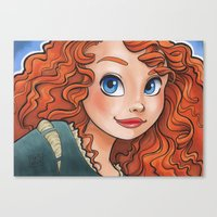 merida Canvas Prints featuring Merida by Genevieve Kay