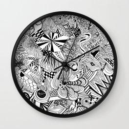 scribble me happy Wall Clock