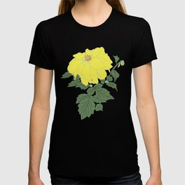 Yellow Dahlia Flower Illustrated Print T-shirt