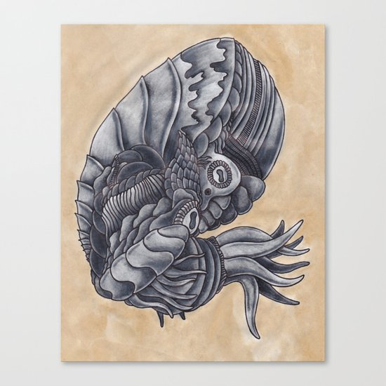 Mars Octopus Canvas Print