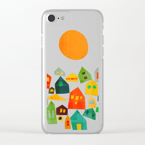 Looking at the same sun Clear iPhone Case