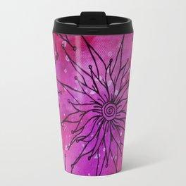 Flowers on pink and purple Travel Mug