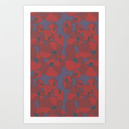 Mauve Poppies Art Print