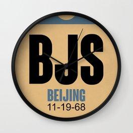 BJS Beijing Luggage Tag 2 Wall Clock