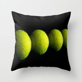 Tennis Balls Throw Pillow