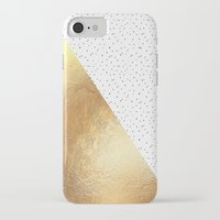gold dots iPhone & iPod Cases featuring Gold and Polka Dots by Jenna Davis Designs