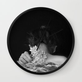 Flower and sea Wall Clock