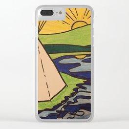 Teepee native sun Clear iPhone Case