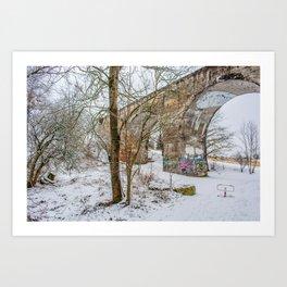 DE - Baden-Württemberg : Viadukt Laupheim Art Print