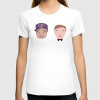 the grand budapest hotel T-shirts featuring Gustave & Zero - Grand Budapest Hotel by InQuadricromia