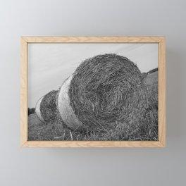 straw bales Framed Mini Art Print
