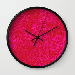 Christmas Brocade Lace with Doves Wall Clock