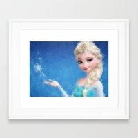 frozen elsa Framed Art Prints featuring Elsa - Frozen by lauramaahs
