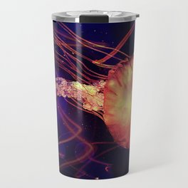 Jellyfish of the Blacklight Electro Rave Travel Mug
