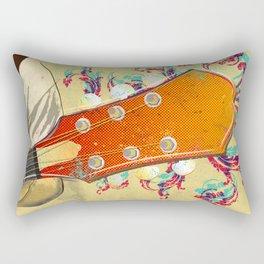 Colorful Guitar Piece Rectangular Pillow