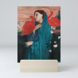 Young Woman with Ibis by Edgar Degas Mini Art Print