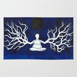 Meditation Under Dark Moon Rug