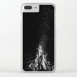 Camp Fire Vibes Clear iPhone Case