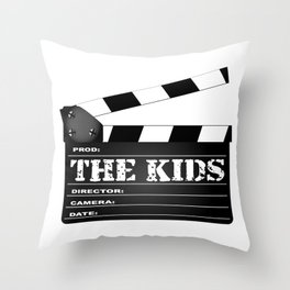 The Kids Clapperboard Throw Pillow