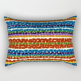 African American Masterpiece 'Light Blue Nursery'' by Alma Thomas Rectangular Pillow