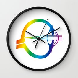 Rainbow Eye Wall Clock