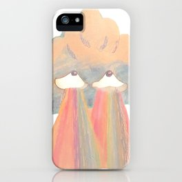 Cloud pink iPhone Case