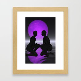 violet moon night Framed Art Print