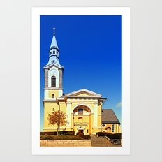 The village church of Niederkappel I | architectural photography Art Print